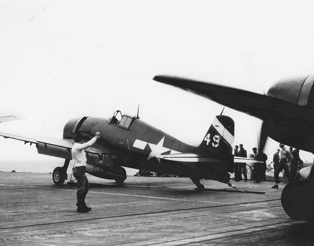 F6F-5_Hellcat_49_of_VF-6_escort_carrier_USS_Suwanee_CVE-27_April_21_1945