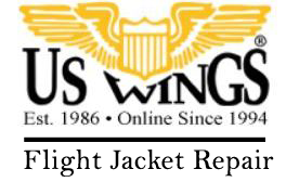 US Wings - Flight Jacket Repair